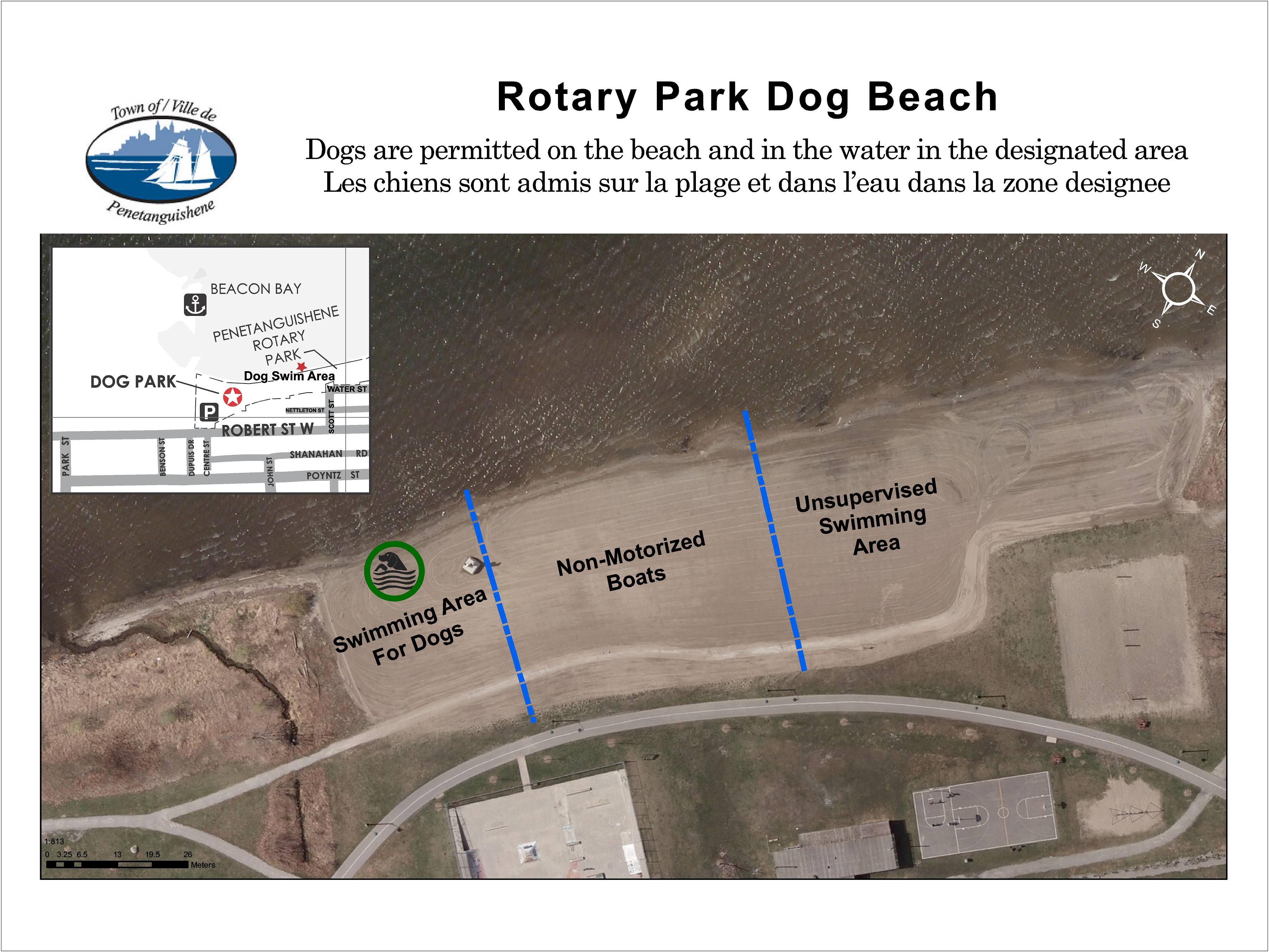 Rotary Park Dog Beach Map