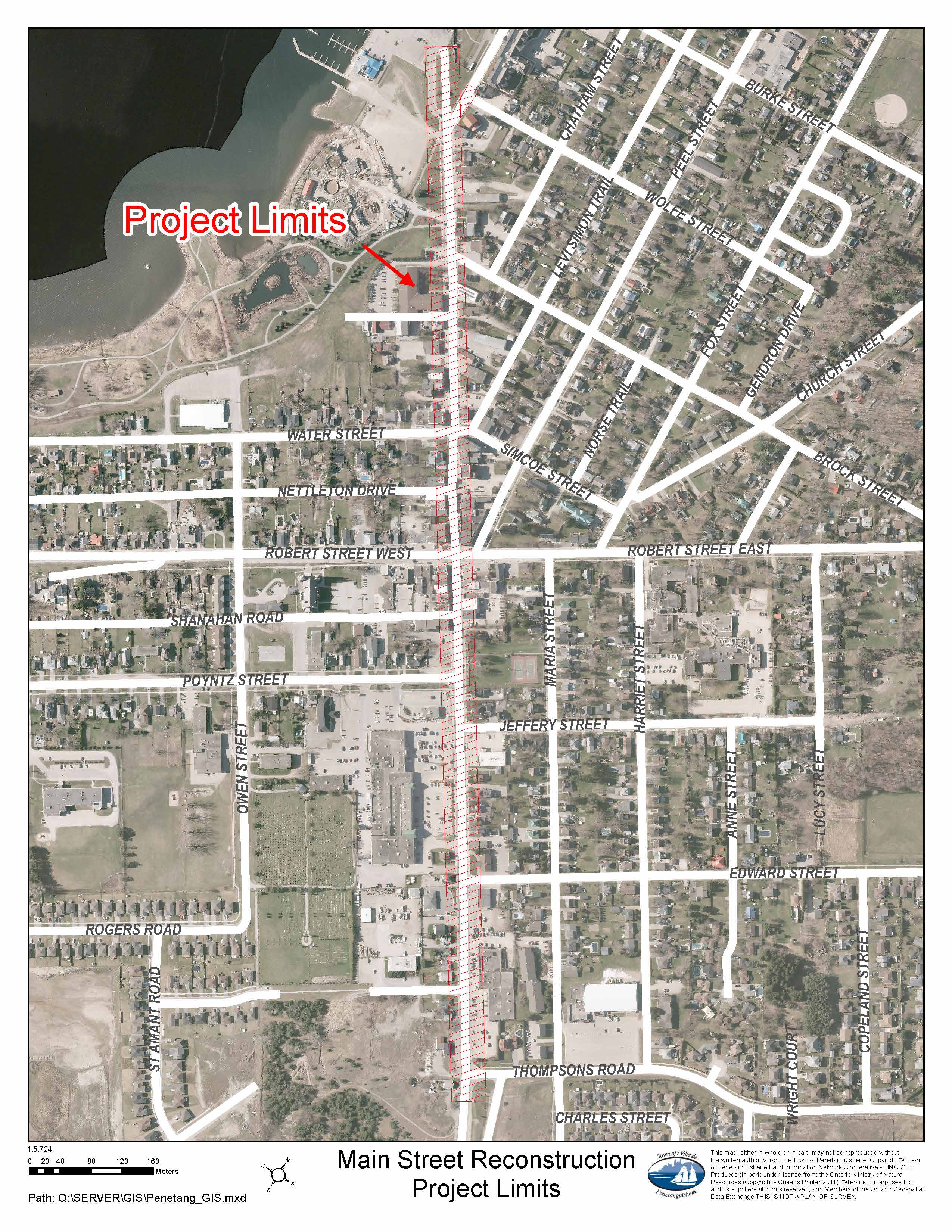 Main Street Reconstruction Project limits