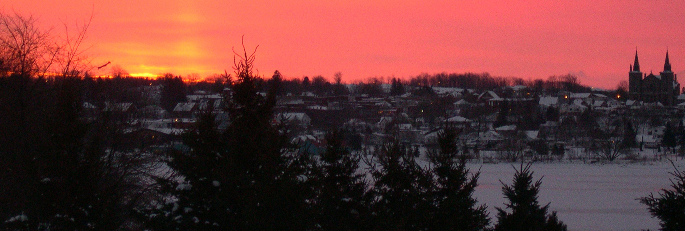 Sunrise over Penetanguishene